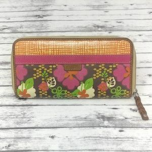 FOSSIL-Waxed Canvas Floral Wallet